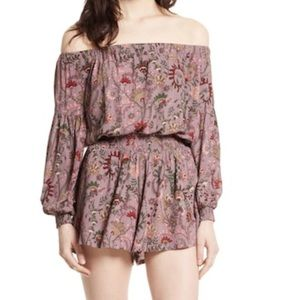 Free People Pretty and Free Off Shoulder Romper
